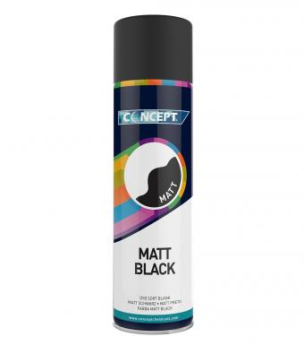 Concept Matt Black Spray Paint 450ml